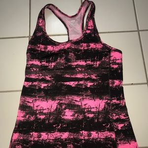 Pink and Black Athletic Tank